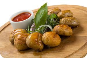 Блюда их жаренных грибов